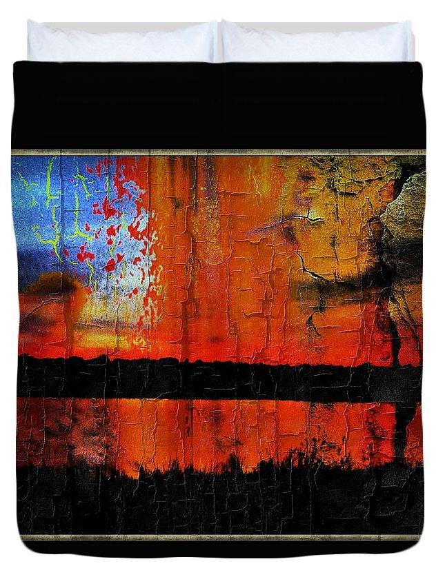 Duvet Cover featuring the digital art Broken View by Wesley Nesbitt