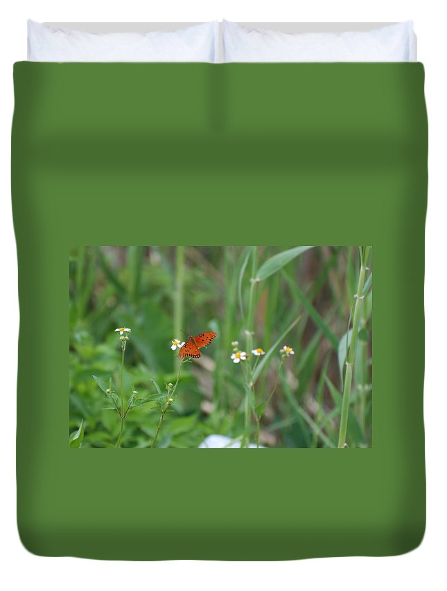 Butterfly Duvet Cover featuring the photograph Broken Wing by Rob Hans