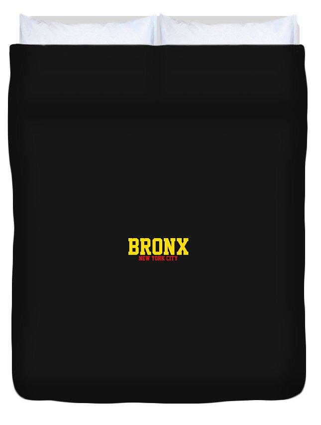 Bronx Duvet Cover featuring the digital art Bronx by Omran Husain