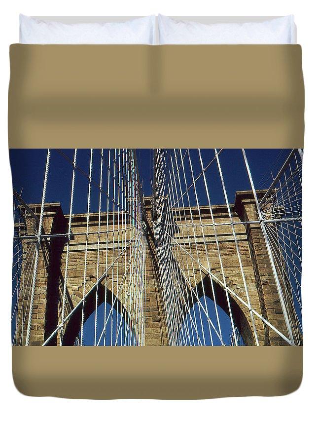 Brooklyn+bridge Duvet Cover featuring the photograph Brooklyn Bridge New York City by Peter Potter