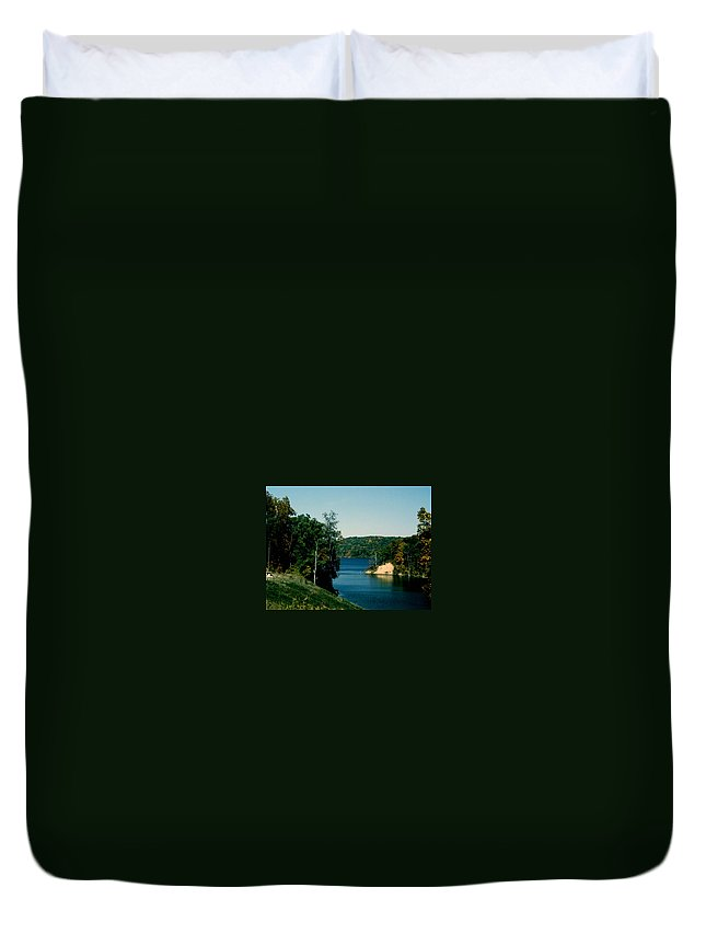Brookville Indiana Duvet Cover featuring the photograph Brookville Lake Brookville Indiana by Gary Wonning