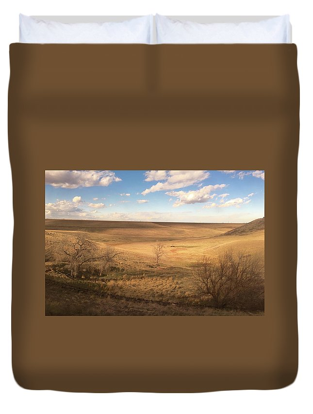 American Landscapes Duvet Cover featuring the photograph Brown Colorado Landscape by Blair Seitz