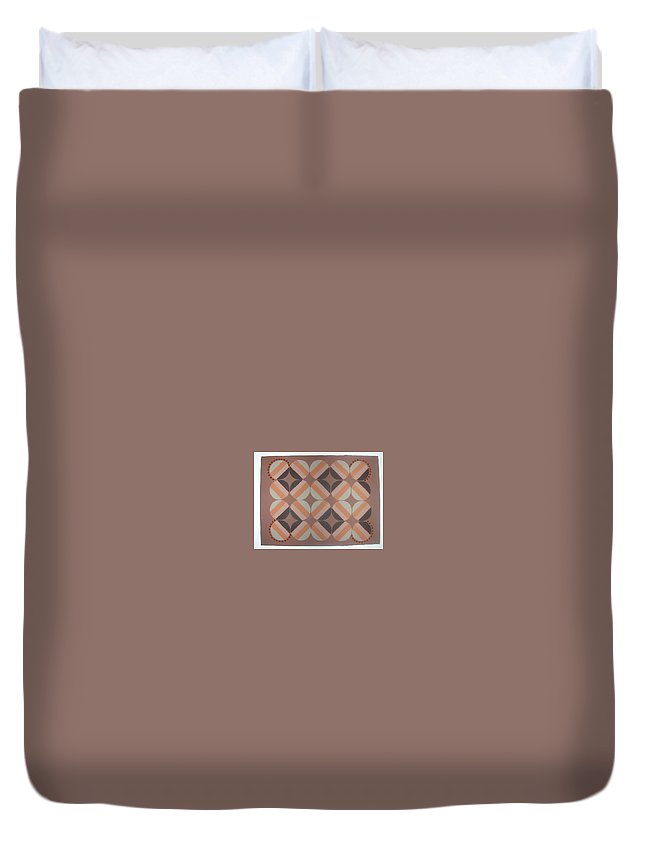 Brown Duvet Cover featuring the painting Brownstone by Gay Dallek