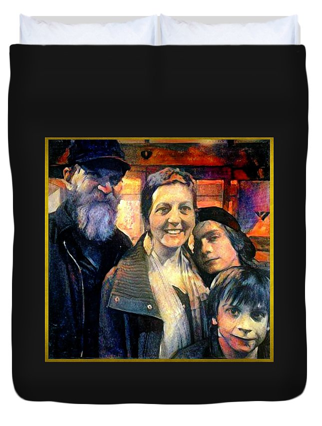 Brubaker Duvet Cover featuring the painting Brubaker Strong by Marshall Thomas