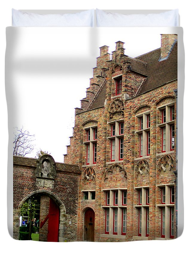 Bruges Duvet Cover featuring the photograph Bruges 10 by Randall Weidner