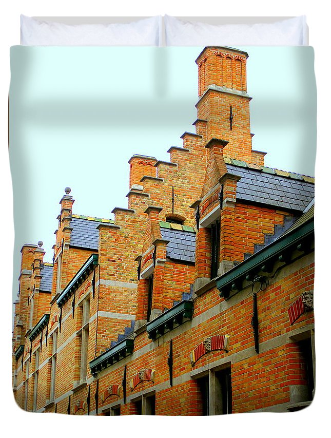 Bruges Duvet Cover featuring the photograph Bruges 2 by Randall Weidner