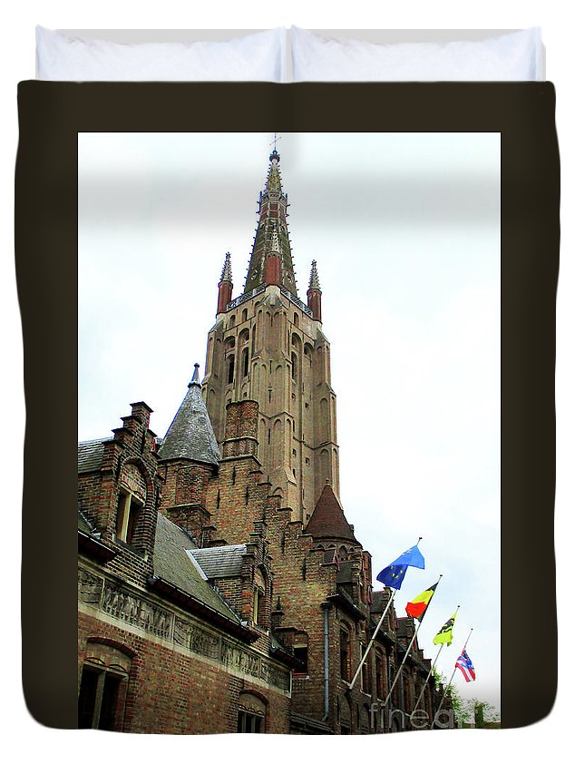 Bruges Duvet Cover featuring the photograph Bruges 21 by Randall Weidner