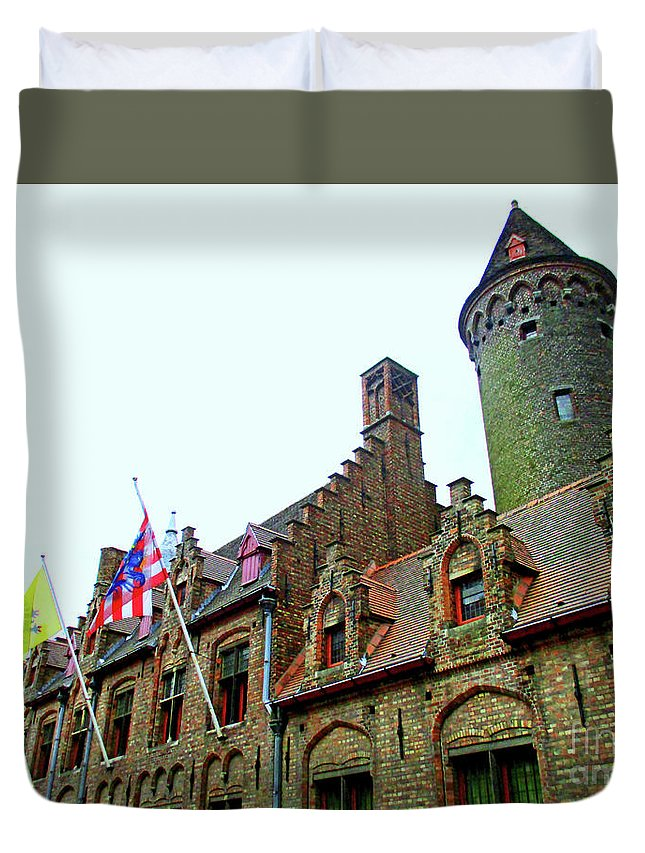 Bruges Duvet Cover featuring the photograph Bruges 24 by Randall Weidner
