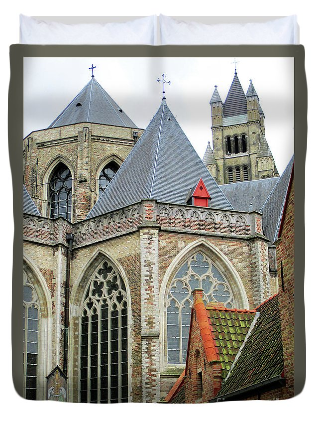 Bruges Duvet Cover featuring the photograph Bruges 26 by Randall Weidner