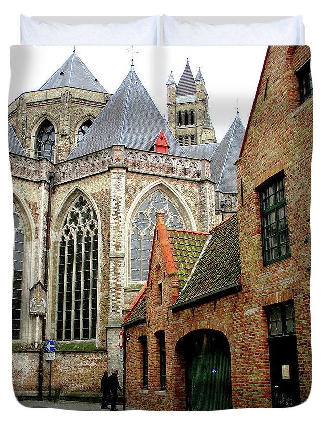 Bruges Duvet Cover featuring the photograph Bruges 27 by Randall Weidner