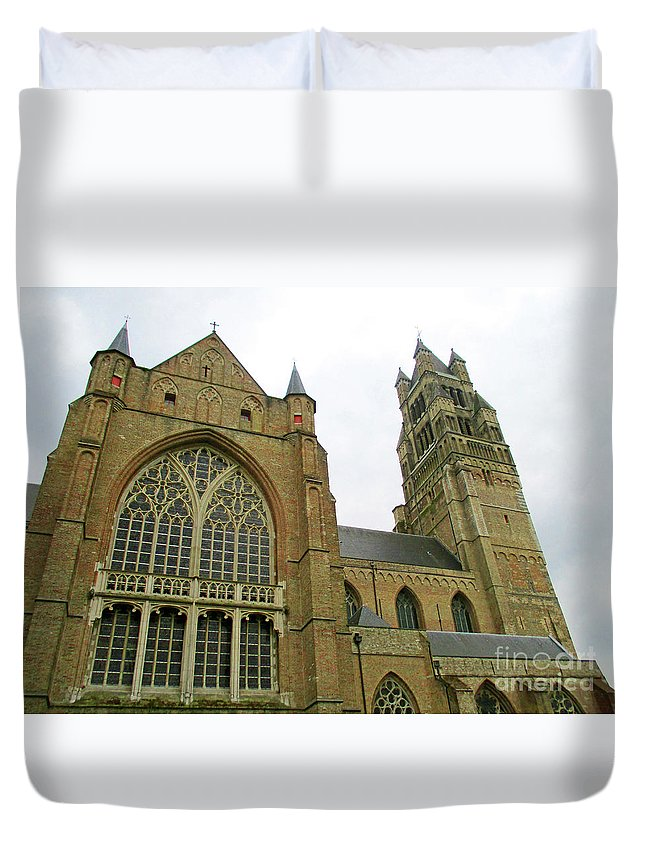 Bruges Duvet Cover featuring the photograph Bruges 29 by Randall Weidner