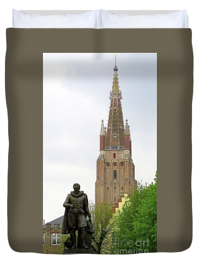 Bruges Duvet Cover featuring the photograph Bruges 33 by Randall Weidner