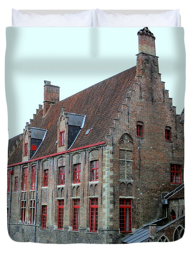 Bruges Duvet Cover featuring the photograph Bruges 5 by Randall Weidner