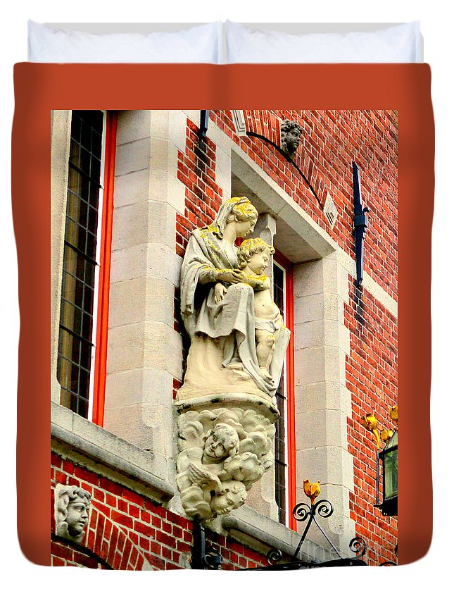 Bruges Duvet Cover featuring the photograph Bruges Detail 1 by Randall Weidner