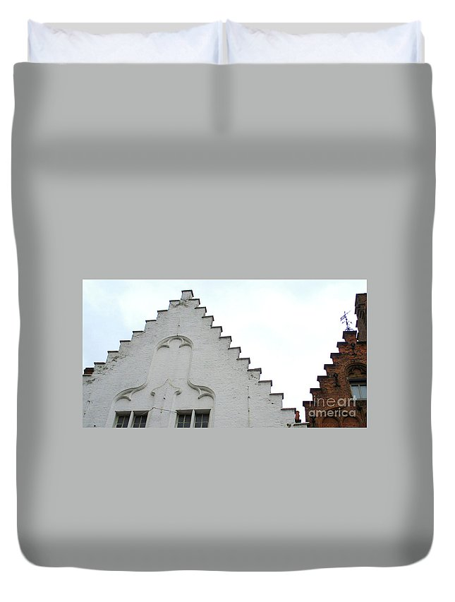 Bruges Duvet Cover featuring the photograph Bruges Detail 13 by Randall Weidner