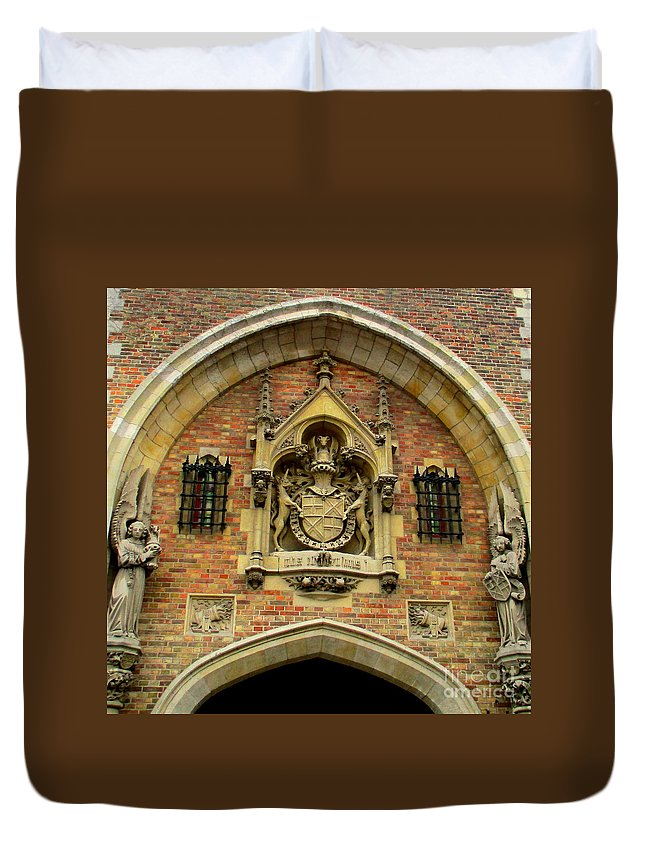 Bruges Duvet Cover featuring the photograph Bruges Detail 9 by Randall Weidner