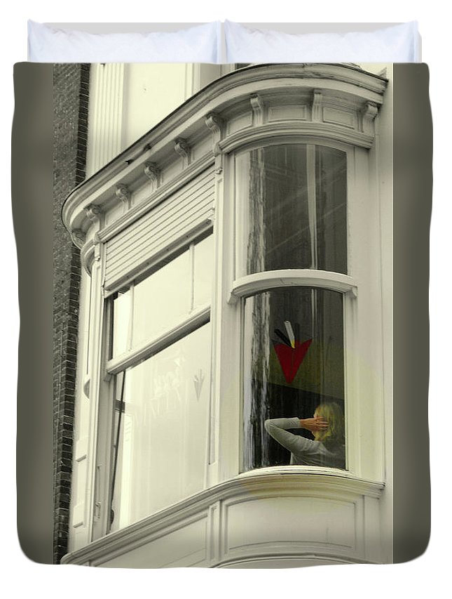 Bruges Duvet Cover featuring the photograph Bruges Window 10 by Randall Weidner
