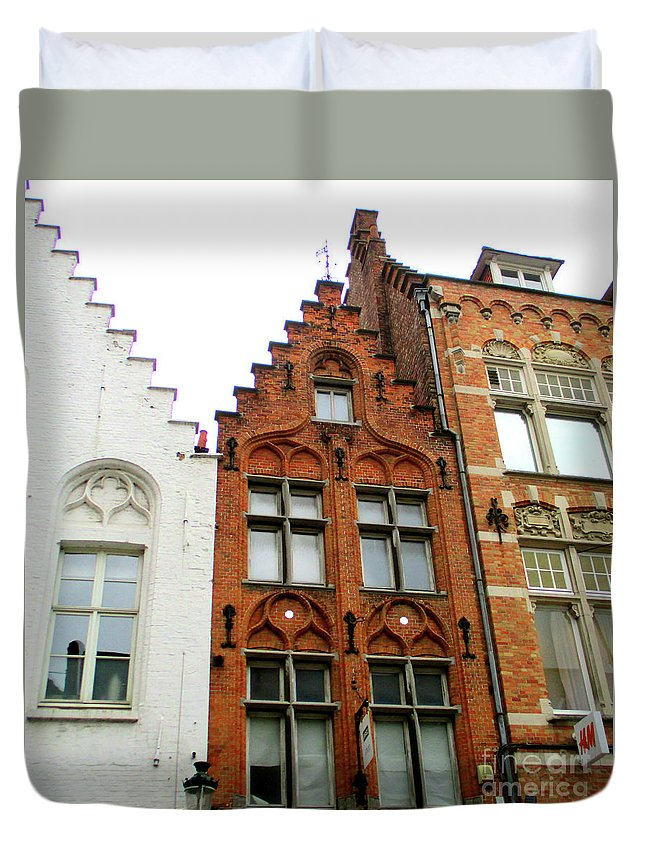 Bruges Duvet Cover featuring the photograph Bruges Window 11 by Randall Weidner