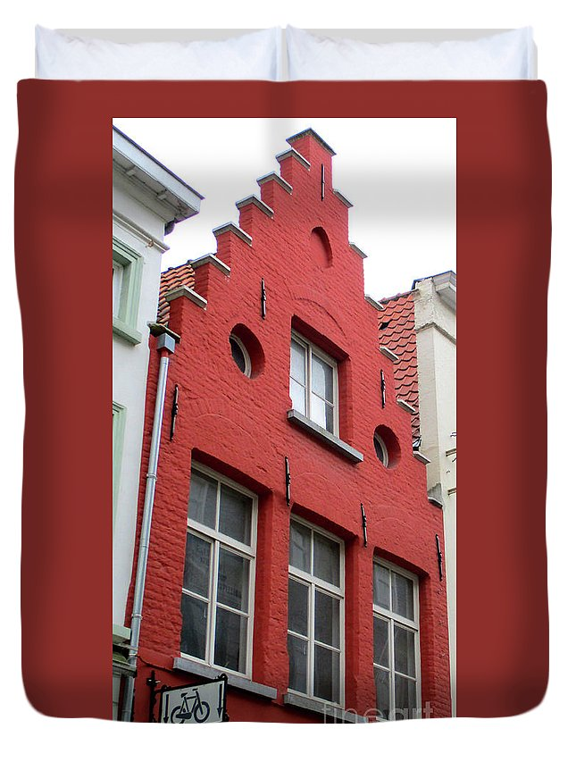 Bruges Duvet Cover featuring the photograph Bruges Window 7 by Randall Weidner