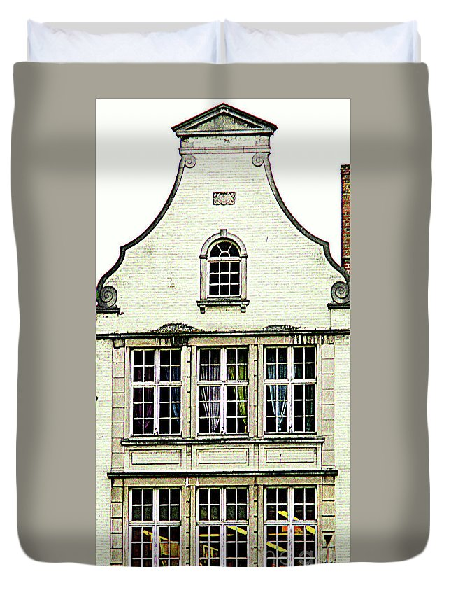 Bruges Duvet Cover featuring the photograph Bruges Window 8 by Randall Weidner