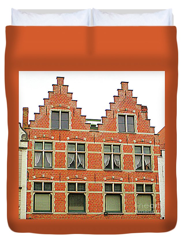 Bruges Duvet Cover featuring the photograph Bruges Window 9 by Randall Weidner