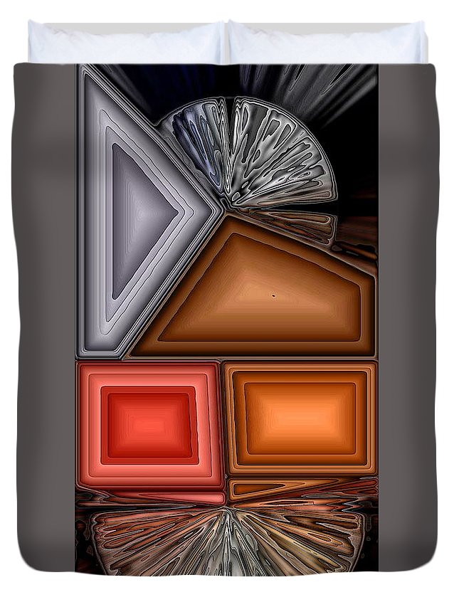 Abstract Duvet Cover featuring the digital art Brushes by Ron Bissett
