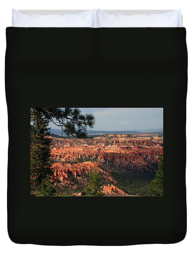 Photography Duvet Cover featuring the photograph Bryce Canyon II by Susanne Van Hulst