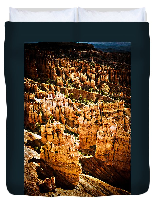 Bryce Canyon Duvet Cover featuring the photograph Bryce Canyon Vertical Image by James BO Insogna