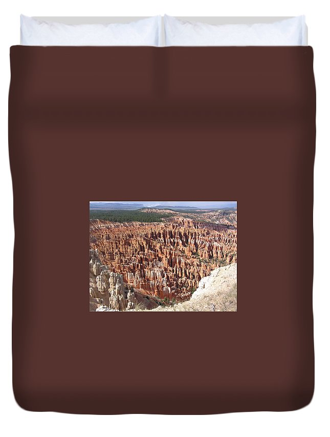 Bryce Duvet Cover featuring the photograph Bryce by Louise Magno