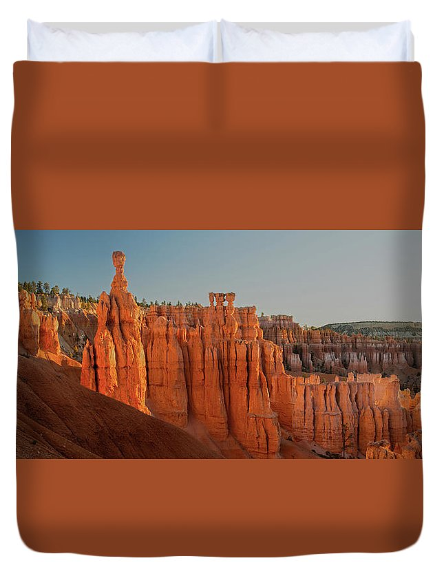 Duvet Cover featuring the photograph Bryce Thor's Hammer by Zach Rockvam