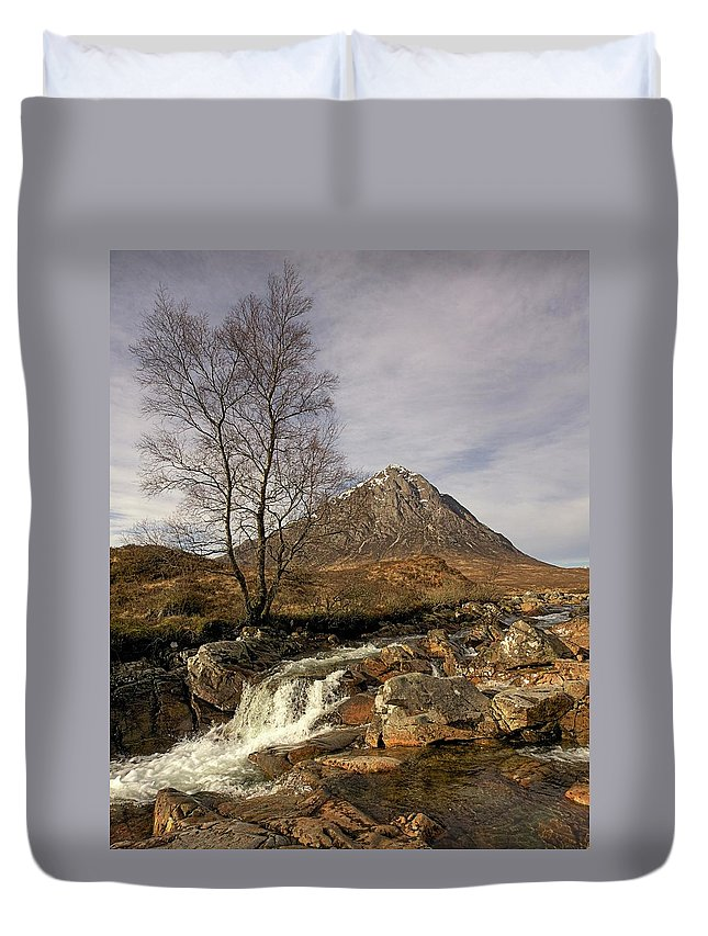 Buachaille Etive Mor Duvet Cover featuring the photograph Buachaille Etive Mor by Colette Panaioti