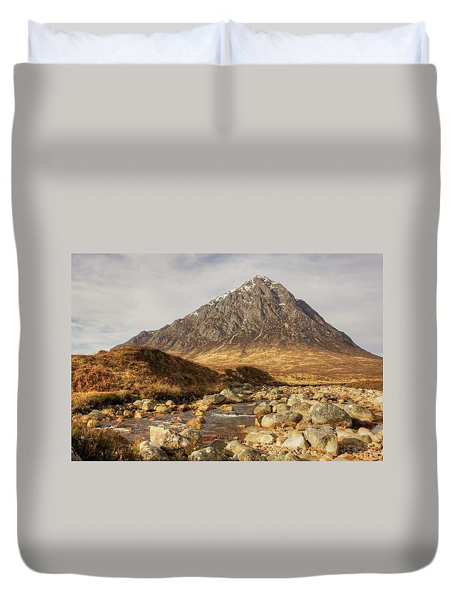 Buachaille Etive Mor Duvet Cover featuring the photograph Buachaille Etive Mor II by Colette Panaioti