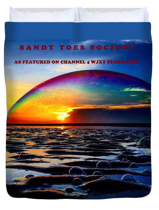 Sandy Toes Society Duvet Cover featuring the photograph Bubble Dome  by Mary Lewis and Gary Crumley