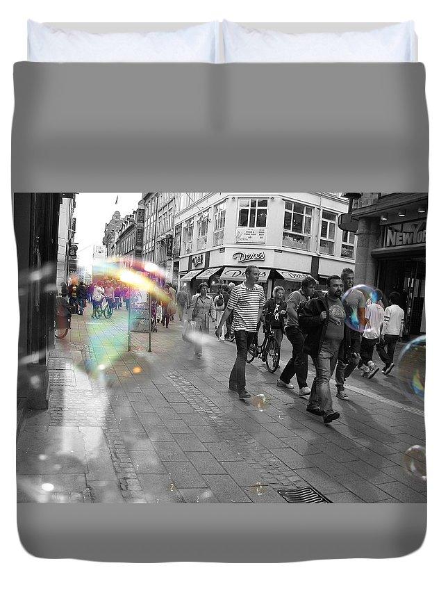 Photography Duvet Cover featuring the photograph Bubbles. Copenhagen. 2 by Cristina Rettegi