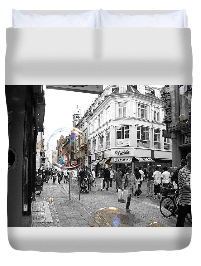Photography Duvet Cover featuring the photograph Bublbes. Copenhagen by Cristina Rettegi