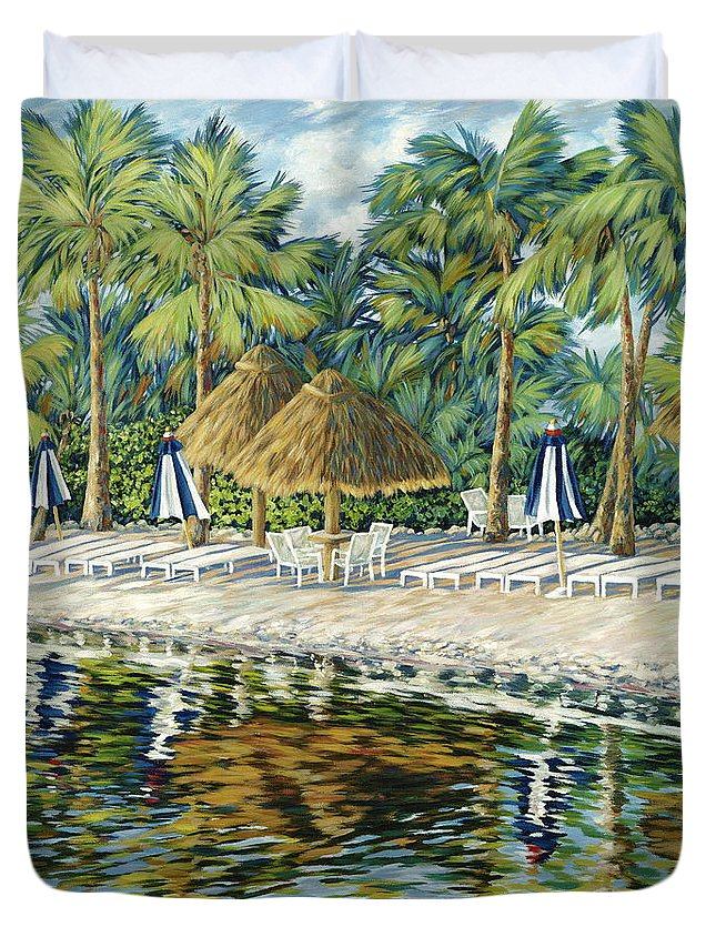 Key Largo Duvet Cover featuring the painting Buccaneer Island by Danielle Perry