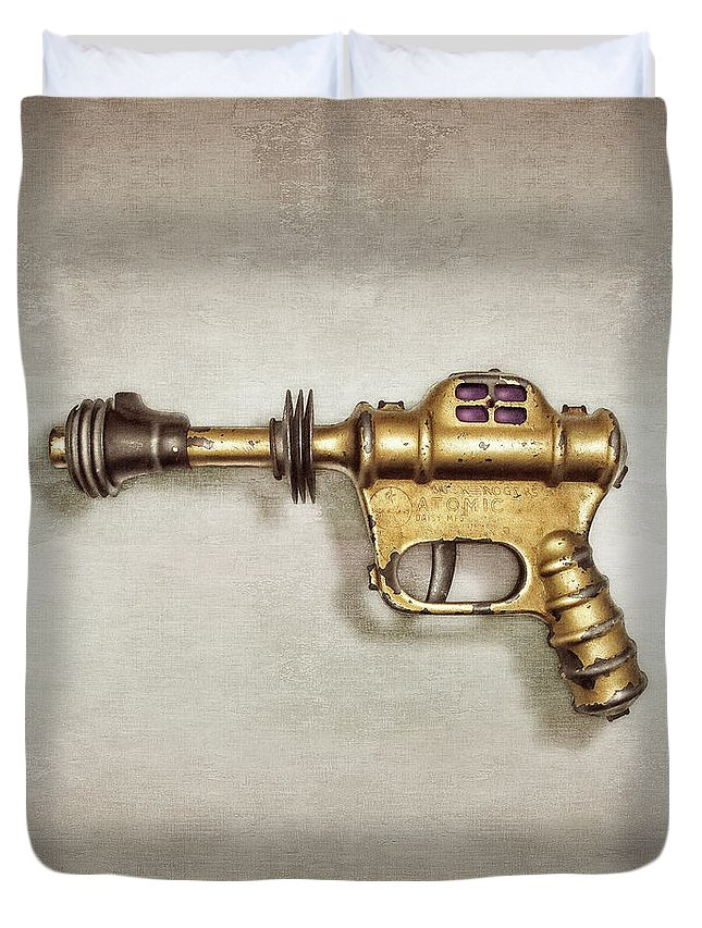 Art Duvet Cover featuring the photograph Buck Rogers Ray Gun by YoPedro