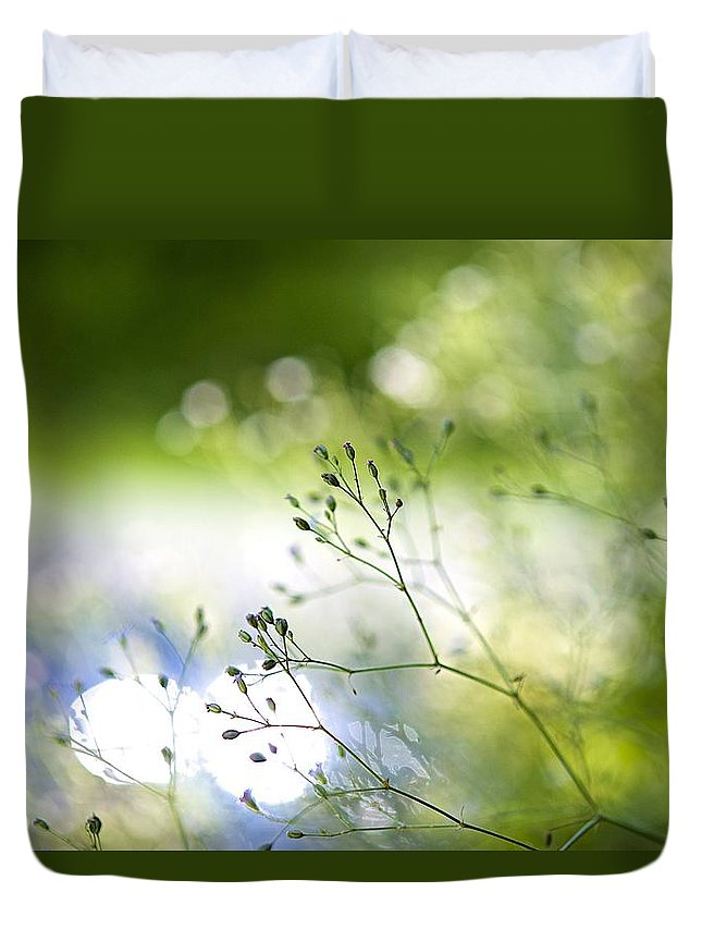 Plants Duvet Cover featuring the photograph Budding Plant by Robert Skuja