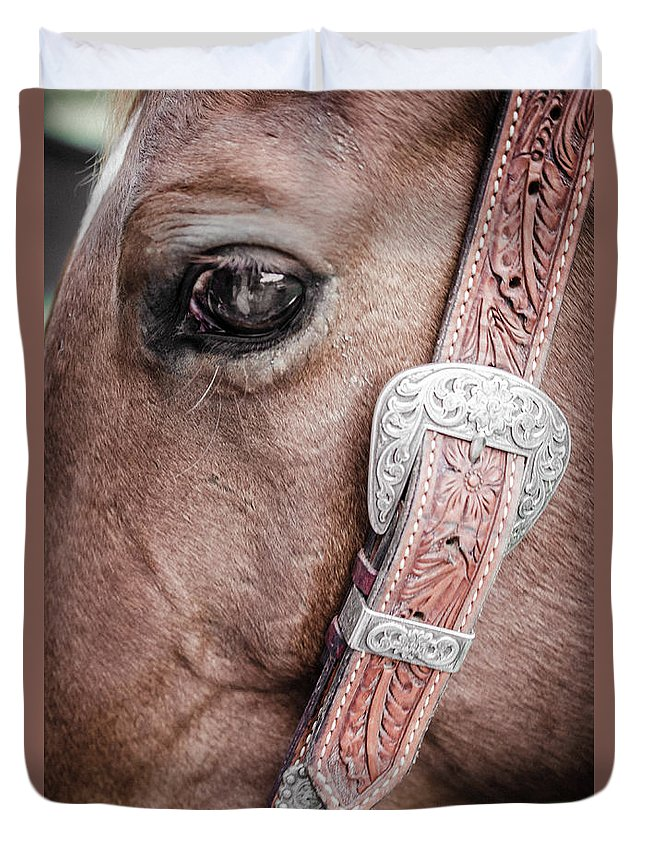 Farm Life Duvet Cover featuring the photograph Buddy by Jim Love