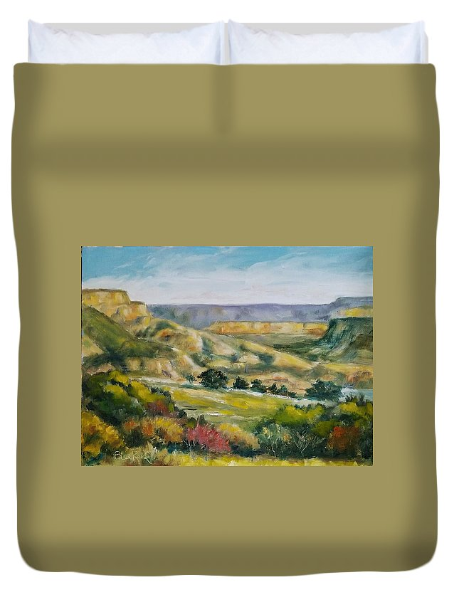 Landscape Duvet Cover featuring the painting Buena Vista by William Reed
