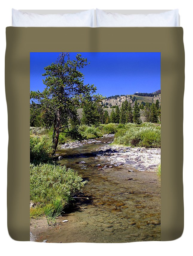 Montana Duvet Cover featuring the photograph Buffalo Fork by Marty Koch