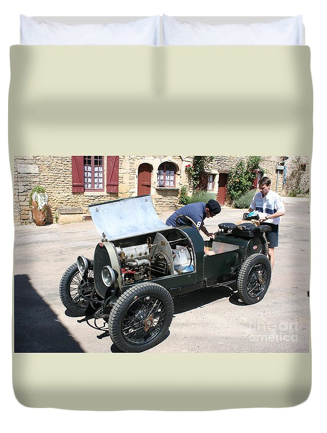 Oldtimer Duvet Cover featuring the photograph Bugatti Oldtimer by Christiane Schulze Art And Photography