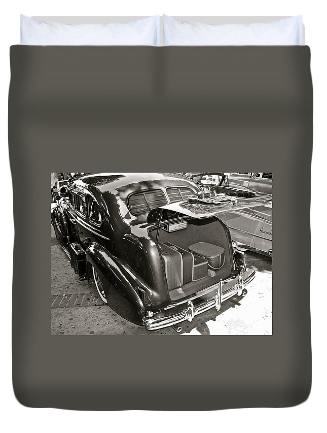 Photograph Duvet Cover featuring the photograph Buick Road Trip by Gwyn Newcombe