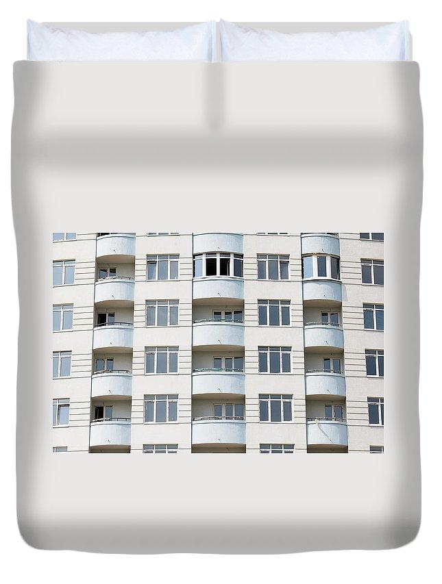 Apartment Duvet Cover featuring the photograph Building Construction by Alain De Maximy