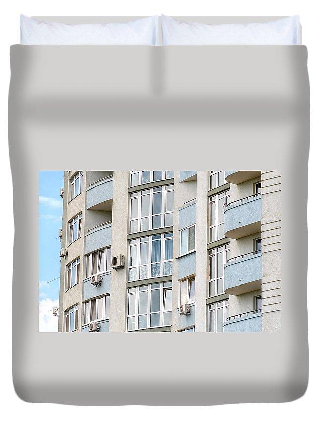 Apartment Duvet Cover featuring the photograph Building Facade by Alain De Maximy