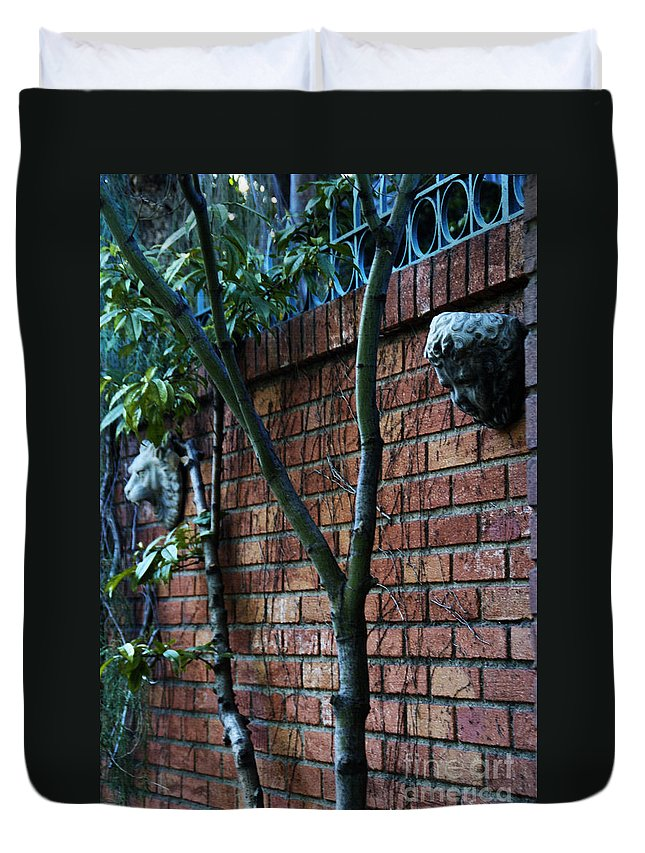 Brick Duvet Cover featuring the photograph Building Walls by Linda Shafer