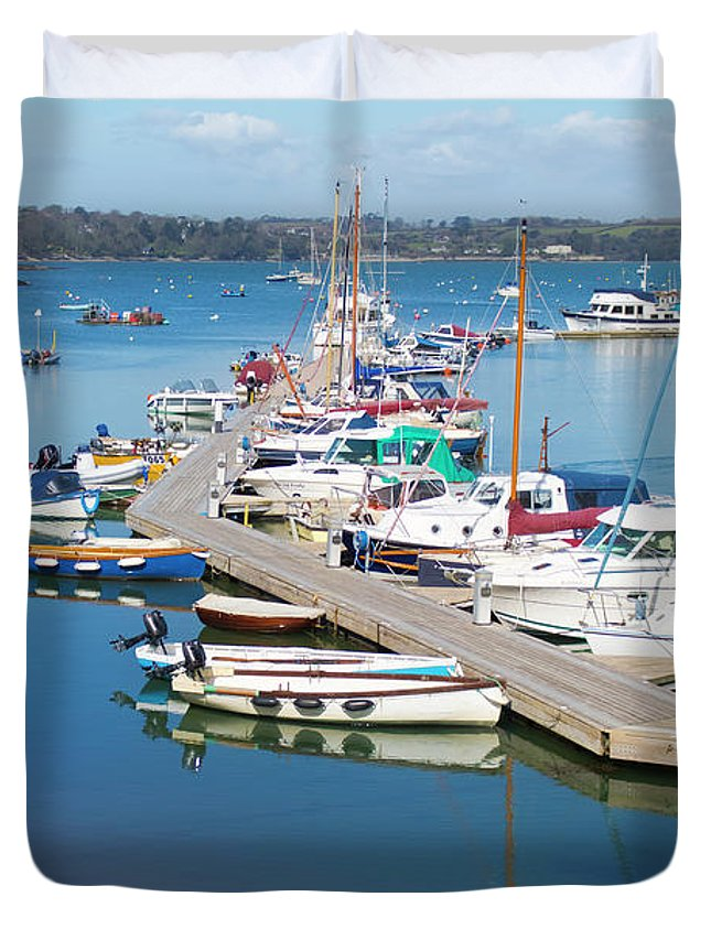 Mylor Duvet Cover featuring the photograph Built For Speed by Terri Waters