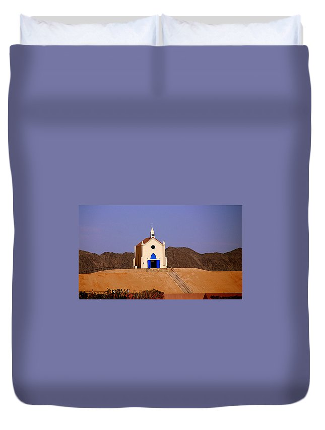 Built Of Sand Duvet Cover featuring the photograph Built Of Sand by Susanne Van Hulst