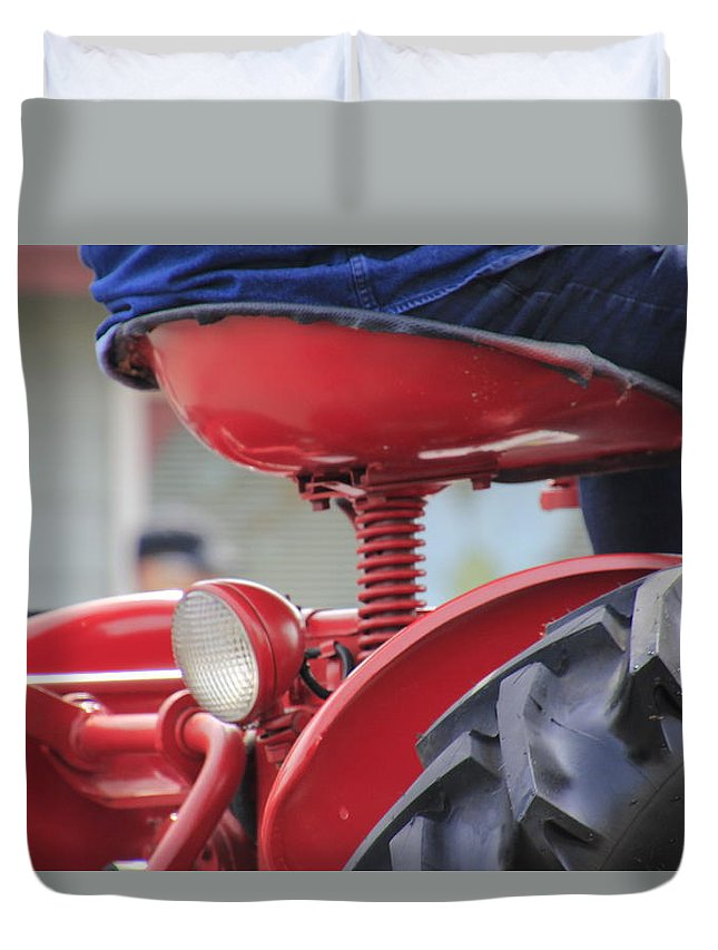Tractor Duvet Cover featuring the photograph Bumpy Ride by Pauline Darrow