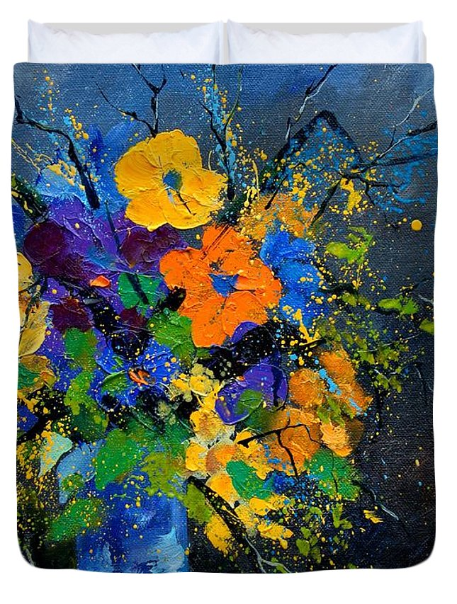 Poppies Duvet Cover featuring the painting Bunch 1007 by Pol Ledent